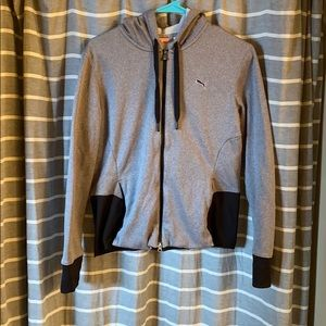 Puma zip-up grey hoodie